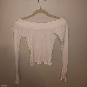 Urban Outfitters Off the Shoulder Long Sleeve Top